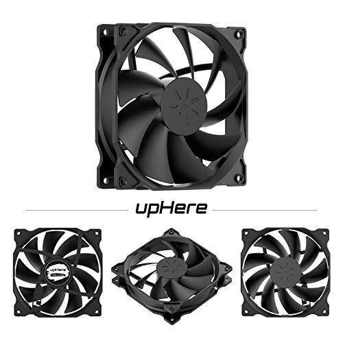 uphere 3-Pack Long Life Computer Case Fan 120mm Cooling Case Fan for Computer Cases Cooling,12BK3-3