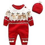 Bebe Mameluco Niños Jersey Navidad Mono - Pijama Invierno Bebé Niñas Algodón...