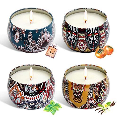 Las velas de aromaterapia aumentan el ambiente fes -S Soy Soy Vella, plantilla de aceite esencial conquiente de aceite, para familias, vela de cera de soja hecha a mano, conjunto de aromaterapia para