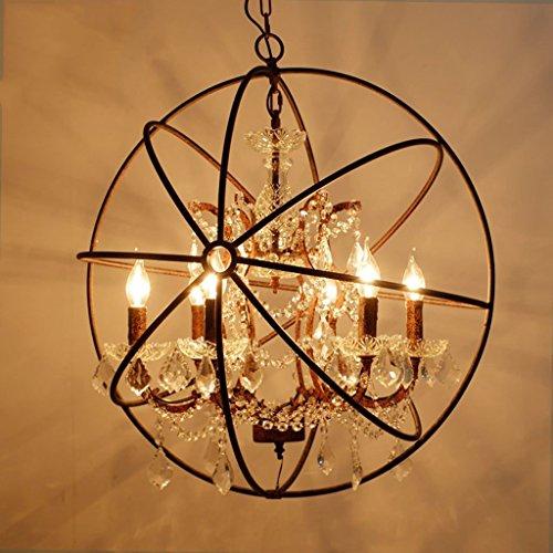 Verlichting mierenhanglamp restaurant kandelaar cafe bar retro wereldbol kaars hanger kroonluchter van kristal birdcage kaarsenstandaard E14 staande lamp (kleur: Trompet 43 cm (4 koppen)