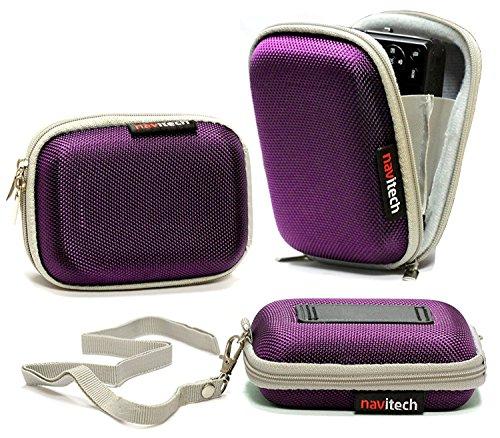 Navitech Lila Wasser wiederständige Harte Digital Kamera Tasche für das Sony Cyber Shot DSC-WX300 / DSC-WX200 / DSC-WX80 / DSC-WX60 / DSC-TX30 / DSC-TF1