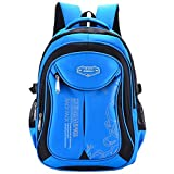 Yvechus School Backpack Casual Daypack Travel Outdoor Camouflage Backpack for Boys and Girls (Blue&Black)
