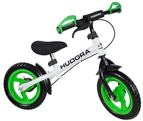 Hudora 10370 - Bicicletta per bambini, senza pedali, colore: Verde