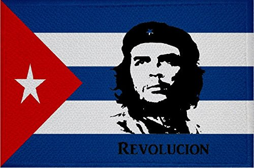 U24 Aufnäher Kuba mit Che Guevara Revolution Fahne Flagge Aufbügler Patch 9 x 6 cm