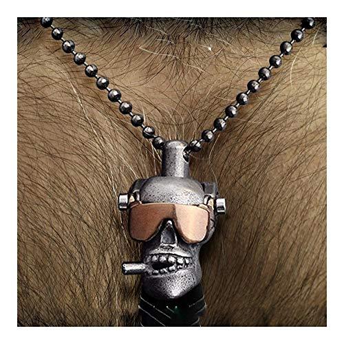 chenyou Colgante personal collar refinado gafas de sol con calavera voladora gotas colgantes de cobre serpientes para collar masculino