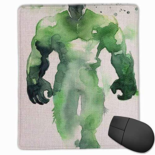 Alfombrilla de ratón para juegos, alfombrilla de ratón personalizada personalizada Alfombrilla de goma antideslizante para juegos, manténgase positivo, trabaje duro y haga que suceda Superhéroe Hulk