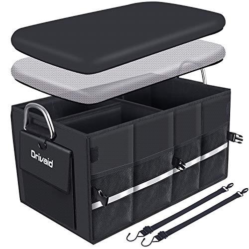 Drivaid Organizador Maletero Coche, Bolsa Maletero Coche Impermeable con Velcro, Antideslizante, Varios...