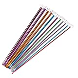 Biowow 11Pcs 2-8mm Different Size 10.5' Multicolour Aluminum Crochet Hook Knit Needles