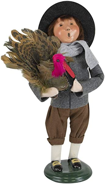 Byers Choice Pilgrim Boy Caroler Figurine From The Thanksgiving Collection 5014C New 2019