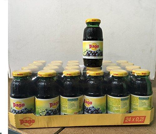 Pago MIRTILLO Nectar Billberry cl 20 x 24 bottiglie in vetro succo di frutta