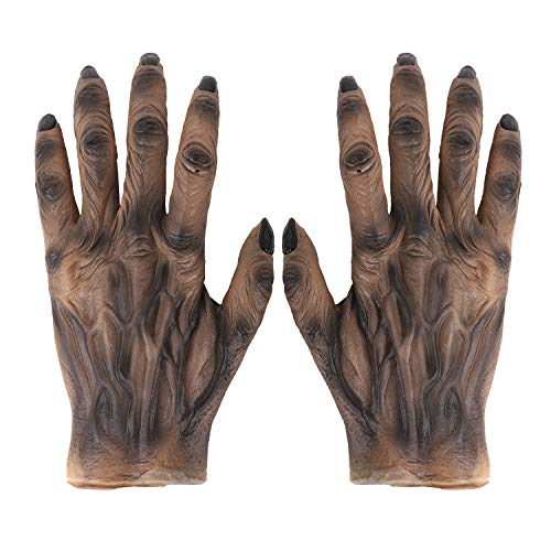Halloween Party Scary Moster Evil Ghost Skeleton Bone Claw Hand Reaper Gloves Costume Role Play Accessories