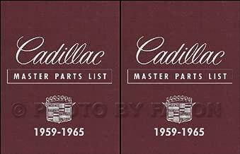 1959-1965 Cadillac Illustrated Master Parts Book Reprint
