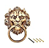 eSplanade Boca de león - aldaba de Puerta   Golpeadores de Puerta de latón   Golpeadores de Puerta de Metal   Decoración del hogar   Herrajes para Puertas