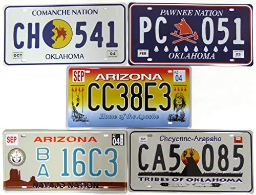 OPO 10 repliche di Vere targhe Americane Lotto di 5 targhe automobilistiche USA in Metallo v8