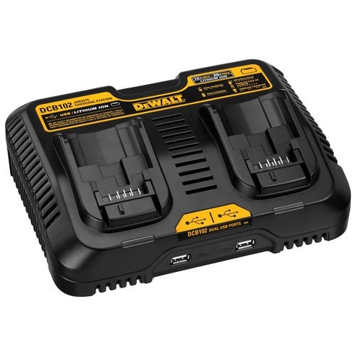 DEWALT 12/20V MAX Charging Station/Dual Charger for Jobsite (DCB102)