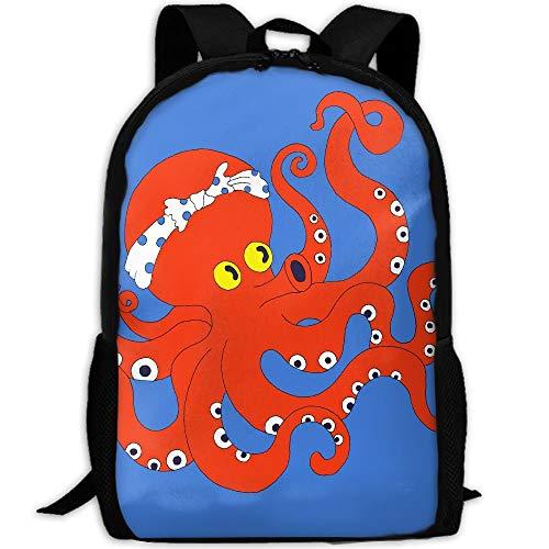 LOVE GIRL Polka Dots Octopus Warrior Adulte Voyage Sac À Dos School Bookbag Casual Daypack Oxford Outdoor Laptop Bag Ordinateur Sacs À Bandoulière