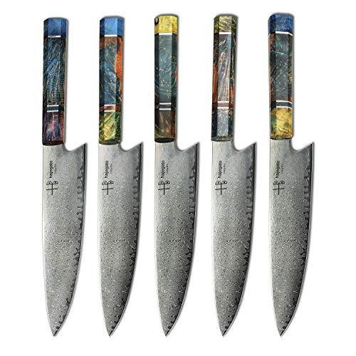 Hajegato Damastmesser Küchenmesser Einzigartiges Griff Kochmesser Profi Messer Japanisches Messer Vg10 Hohe Qualität 67 Schichten Damaststahl Stahlmesser-ultra Scharfe Messer (Gyuto Messer - 8