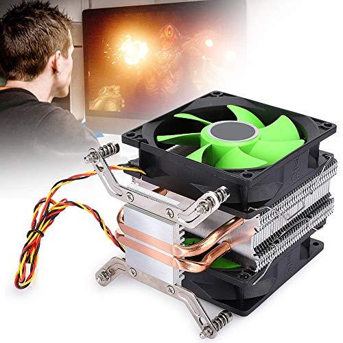 Radiador de CPU Ruido de 22 dBA Enfriador de CPU Disipador de calor de CPU para / AMD3 / AM4 / FM1 / FM2 ((Tornillo ADM) Ventilador doble de 3 cables sin luz)
