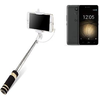 K-S-Trade Selfie Stick palillo para BQ Aquaris U Plus, Negro ...