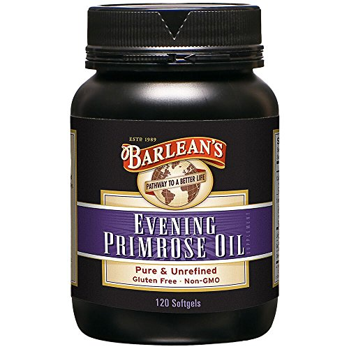 Barlean's Organic Oils Organic Evening Primrose Oil, 120 softgels/1300 mg ea. Bottle