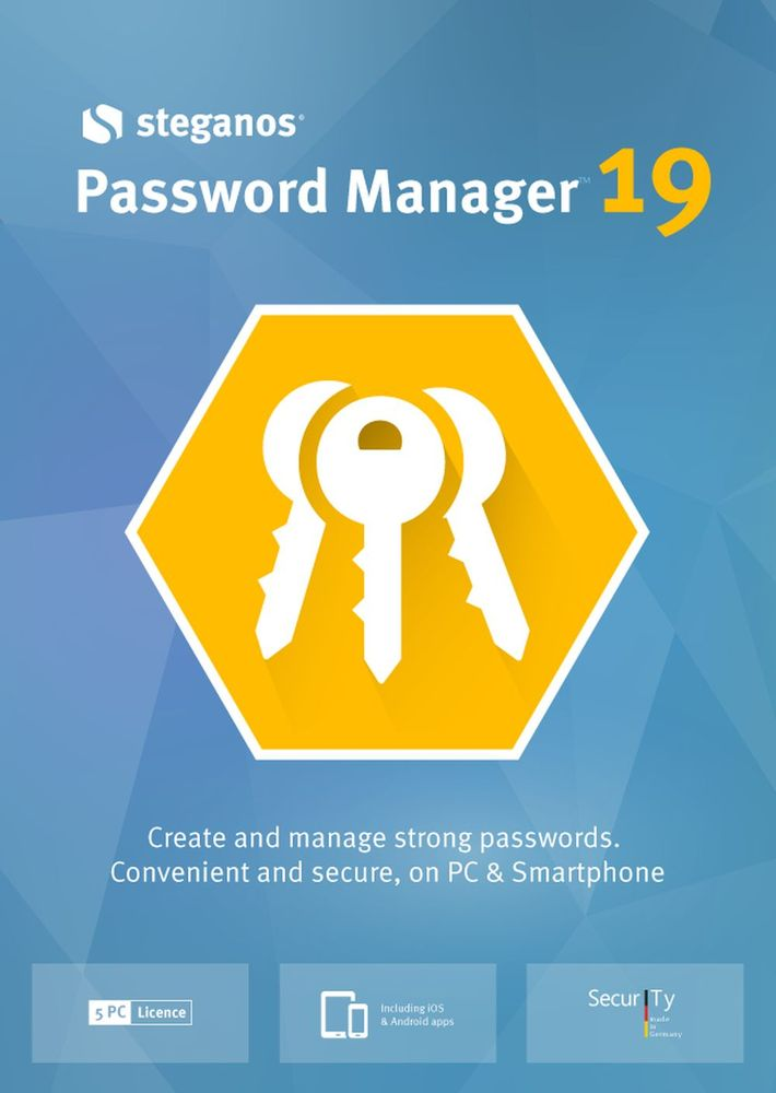 Steganos Password Manager 19 - Create and manage strong passwords! Windows 10|8|7 [Download]