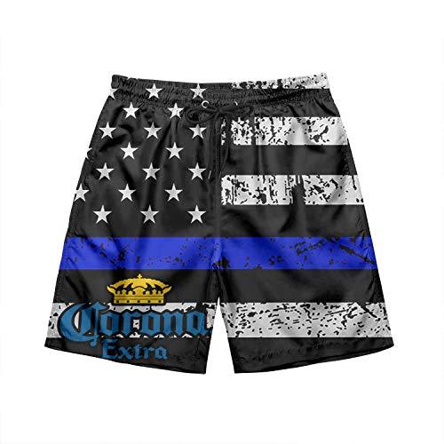 JYYBN Corona-Beer- Men Swim Trunks Casual Beach Swim Shorts Quick Dry with Pockets Mesh Lining Board Shorts