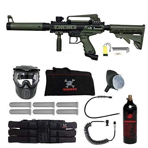 Maddog Tippmann Cronus Tactical Corporal Paintball Gun Package - Black/Olive