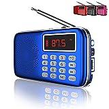 QAISE AM/FM Radio with Bluetooth, MP3 Player,...