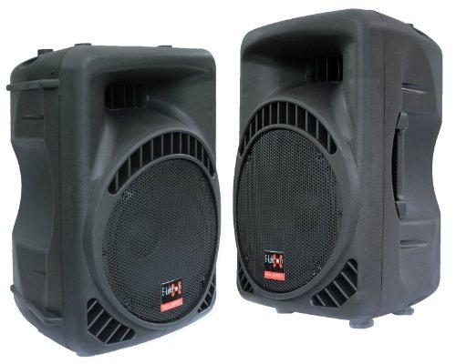 """2x 800W DJ PA AKTIV LAUTSPRECHER BOXEN Set 15\"""" E-Lektron 15800MA"""