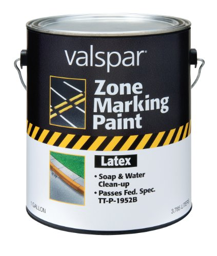 Valspar 24-138G Red Latex Zone Marking Paint - 1 Gallon
