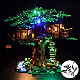 CZA Juego de Luces LED para Las Ideas de la Serie Tree House Juguetes Set de iluminación con Compatile 21318 Bricolaje Conjunto de iluminación (Modelo no está Incluido)