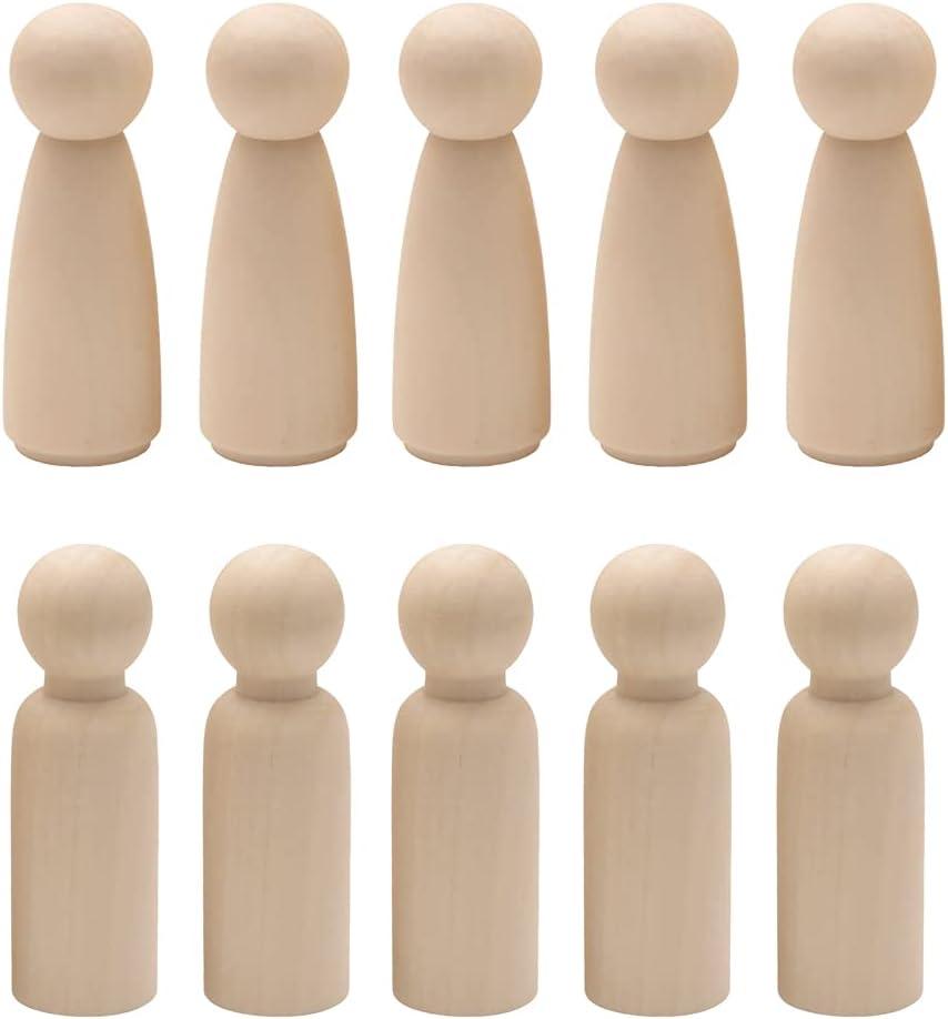 Trsnzul Muñecas De Madera Inacabados 20 Piezas Muñecas De Madera Decorativas De Bricolaje Personas De Madera Figuras para DIY Manualidad Decoración Artes y De Pintura
