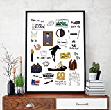 DPFRY Leinwandbild Seinfeld Tv Show Poster Kreativität