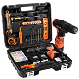 LETTON Cordless Screwdriver Drill Tool Kit 48pc Tool Set Drill Driver <span class='highlight'>Power</span> <span class='highlight'>Tools</span> Set with 16.8V Cordless Electric Screwdriver and 2 Lithium-Ion Batteries for Home, UK 3-Pin Plug Included
