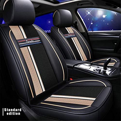 WANLING Fundas para Asientos de Coche para Cadillac CT6 DTS SRX STS XT5 XTS Durable Lujo Cuero Delan