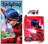 Ladybug Serviette de Plage Miraculous + Sac de Plage Miraculous