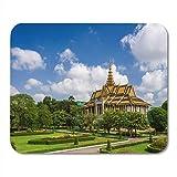 Mauspad blue penh chanchhaya pavillon im schönen landschaftsgarten kambodscha mousepad für notebooks, Desktop-computer mausmatten, Büromaterial