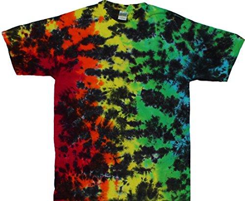 Tie Dyed Shop Rainbow Crackle Tie Dye Shirt 4X