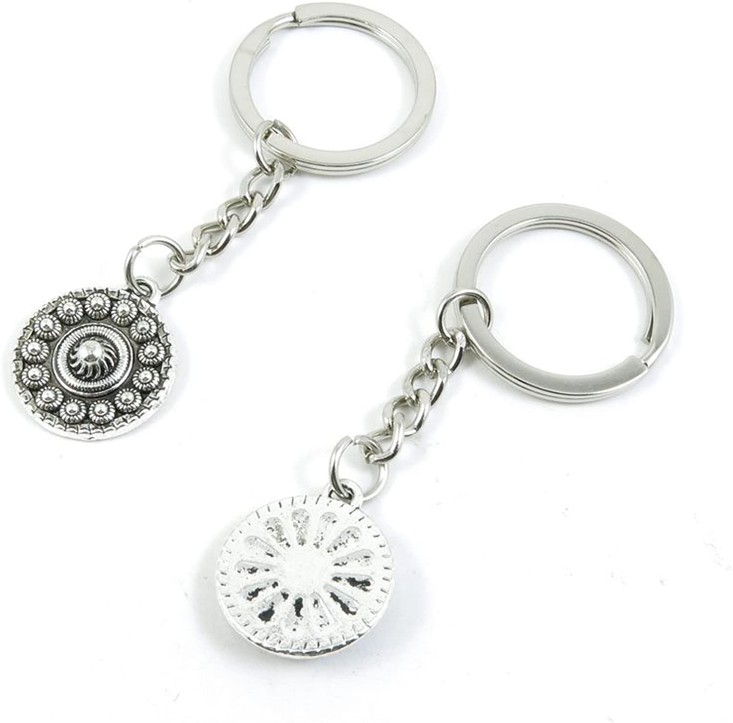 100 Pieces Keychain Keyring Door Car Key Chain Ring Tag Charms Bulk Supply Jewelry Making Clasp Findings V8BP9Z Sun Relief