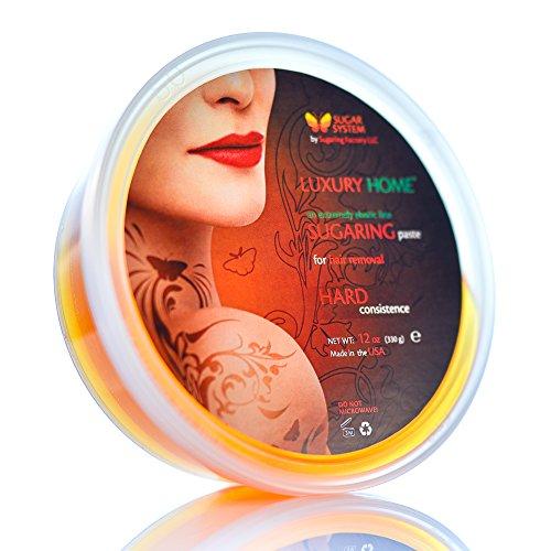 "Sugaring Paste ""Luxury Home"" – Hard - for Brazilian Bikini area line - Organic Hair Removal - Sugar Wax hair remover"