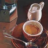 Rahmen-Kunst Keilrahmen-Bild – Federico Landi: Caffe del Mattino Leinwandbild Cafe Tasse Kaffee Küche Esszimmer Bar