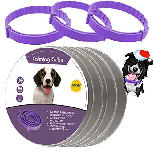 leQuiven Calming Collar for Dogs, 3 Pack Collars for Dogs, Relieve Anxiety Dog with Pheromones, Natural Waterproof Adjustable Collars Up to 24 Inches Fit for All Small Medium and Large Dog