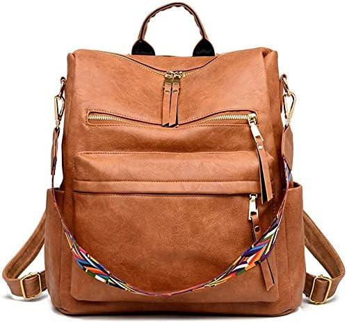 Women Backpack Purse Fashion Travel Bag Multipurpose Designer Handbag Ladies Satchel PU Leather product image