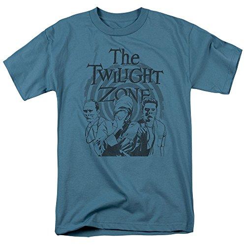 Camiseta adulta Twilight Zone Série TV CBS Beholder, Cinza, Large