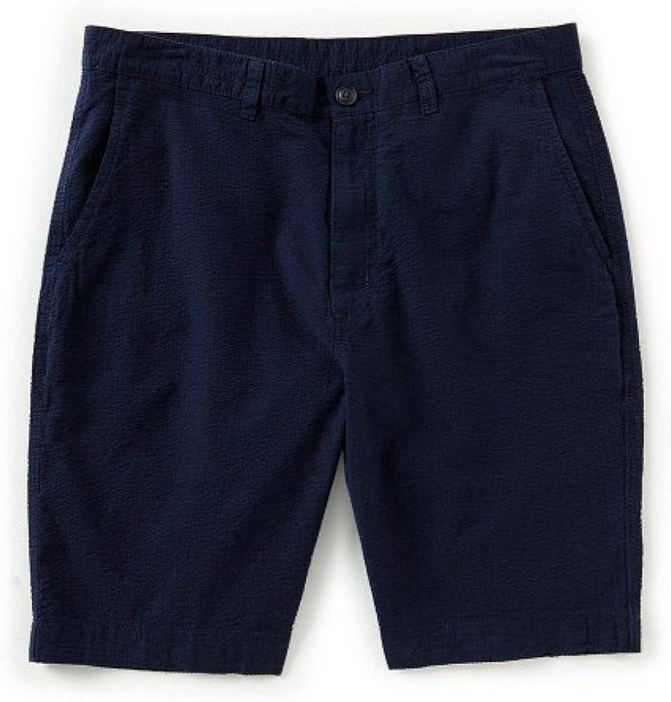 Roundtree Yorke Big Man Solid New Free Shipping Shorts Inseam Seersucker Dark Manufacturer OFFicial shop 9