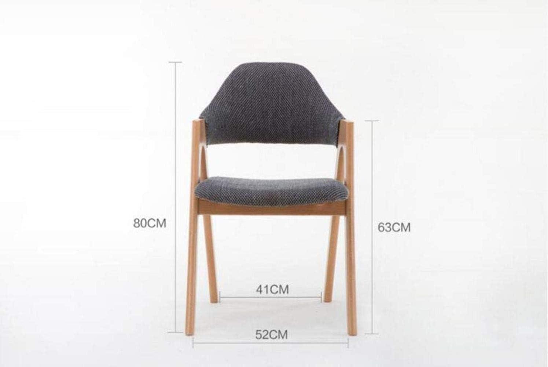 en Bois Massif Chaise Chaise Ordinateur, Fauteuil en Tissu Fauteuil de Bureau Matériel de l'environnement Amical 80x52x52cm (Color : Black Gray) Khaki