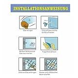RH Art Sonnenschutzfolie Fenster UV-Schutz Verdunkelungsfolie Sichtschutz Spiegelfolie - Silber, 90 x 200 cm - 8