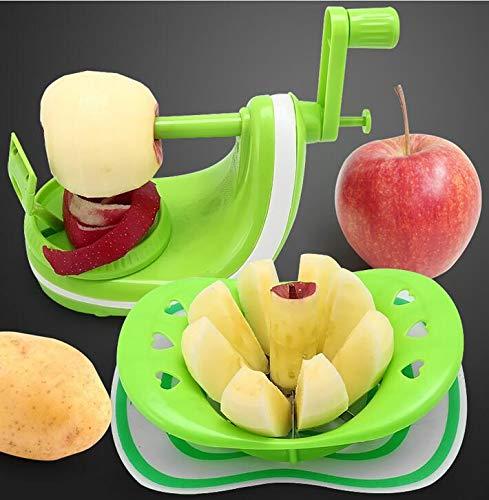 SISHUINIANHUA Manuelle Apple-Birnen-Frucht Peeler Machine Tool Hand Drehbare Multifunktionsfruchtschälmaschine mit Edelstahl-Blatt