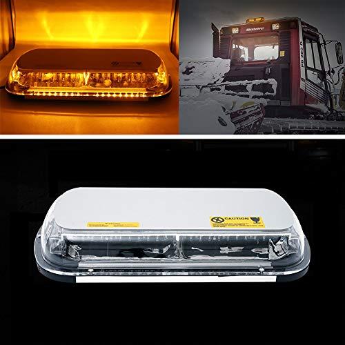 SXMA 44W Avertissements d'urgence des forces de l'ordre - Camion de voiture clignotant - Mini-feu stroboscopique à toit supérieur avec base magnétique (orange)