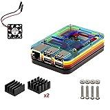 Pour Raspberry Pi 3 Modèlel b Kit , 7 Couche Boitier Case , dissipateur ,Ventilateur (Multi...